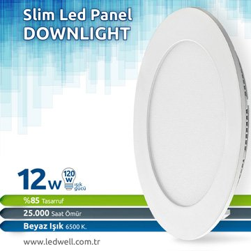 12watt Sıva Altı Led Panel Downlight Beyaz