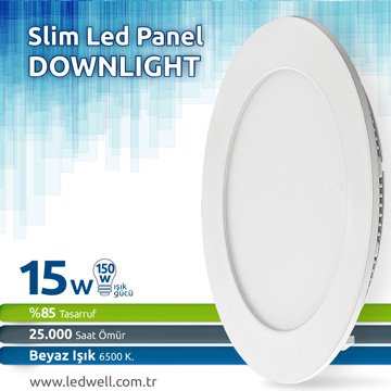 15watt Sıva Altı Led Panel Downlight Beyaz