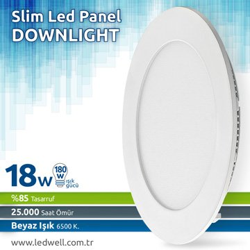 18watt Sıva Altı Led Panel Downlight Beyaz