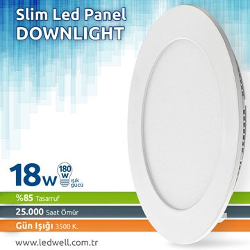 18watt Sıva Altı Led Panel Downlight Günışığı