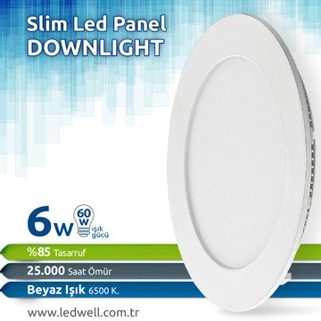 6watt Sıva Altı Led Panel Downlight Beyaz