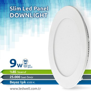 9watt Sıva Altı Led Panel Downlight Beyaz