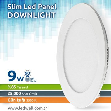9watt Sıva Altı Led Panel Downlight Günışığı